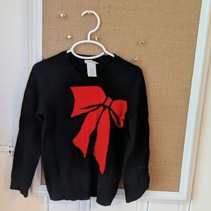 Crewcuts Navy Bow Sweater